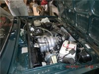 установка ГБО метан на автомобиль ВИС (под капотом)
