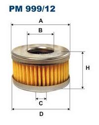фильтр тонкой очистки газа pm999-12