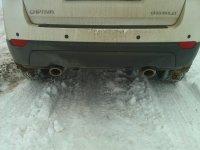 внешний вид Chevrolet Captiva с газовым баллоном вместо запасного колеса